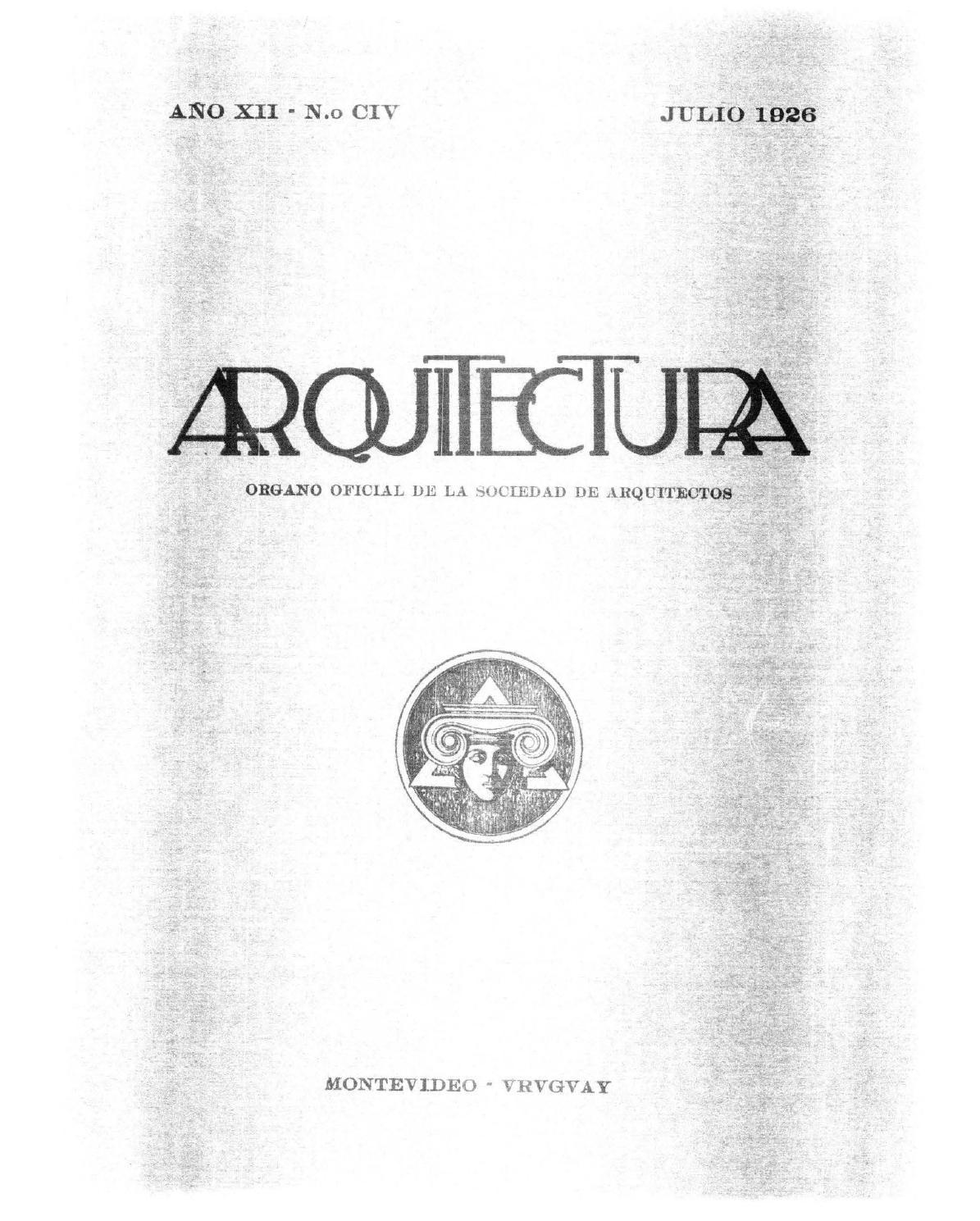 Arquitectura 104 1926 By Sociedad De Arquitectos Del Uruguay Sau  # Mateo Muebles Cutral Co