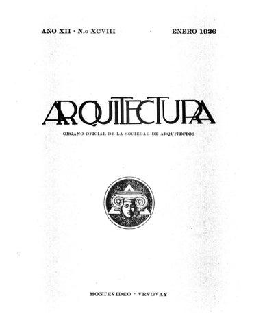 Arquitectura 98 - 1926 by Sociedad de Arquitectos del Uruguay SAU ...