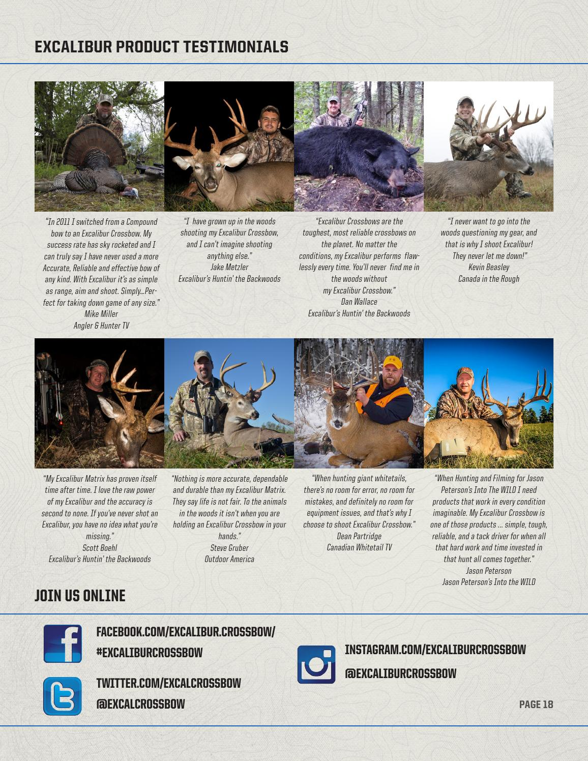 2016 Excalibur Crossbow Catalog by Bowtech Archery - issuu