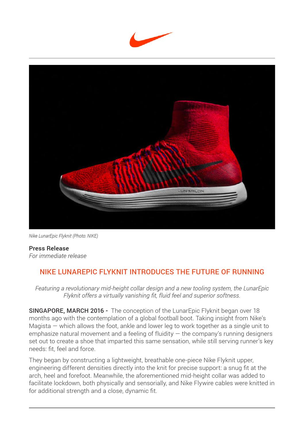 premium selection 44811 2919e Nike LunarEpic Flyknit (March 2016) by Playmaker SG - issuu