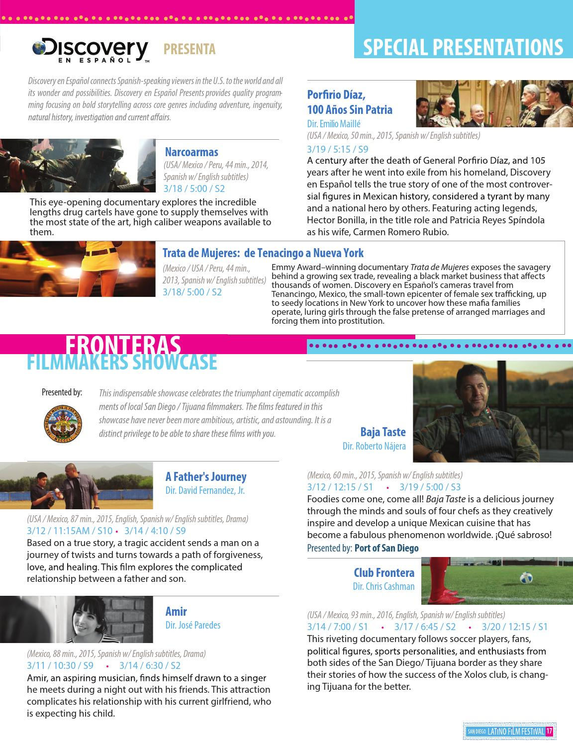 San Diego Latino Film Festival Catalogue 2016 by Ethan