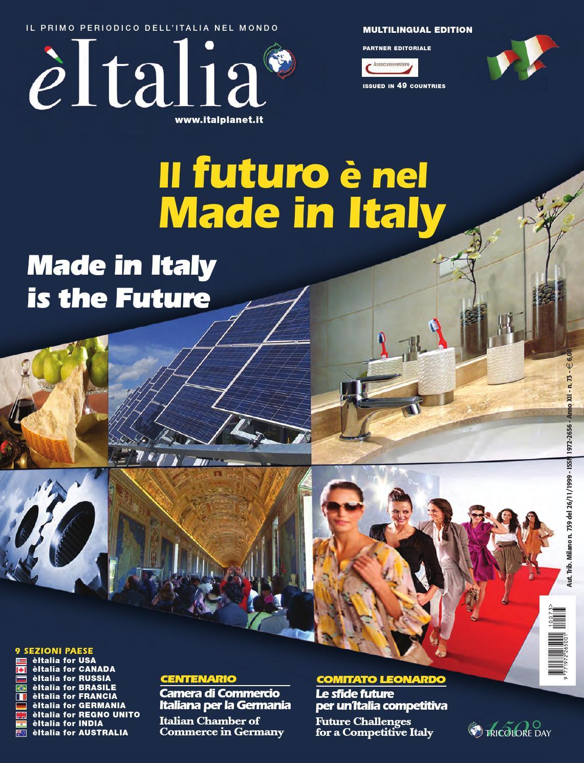 èitalia 73 – Il Primo Periodico dell Italia nel Mondo by èItalia - issuu cb66554b7e3