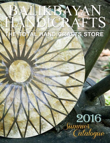 Balikbayan Handicrafts Summer Catalogue 2016 By Balikbayan