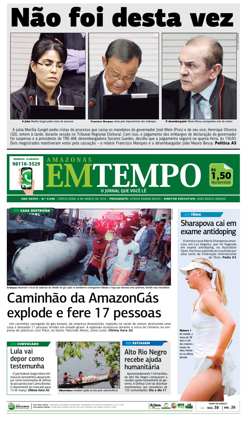 EM TEMPO - 8 de março de 2016 by Amazonas Em Tempo - issuu ed1961a411149