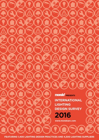 Page 1. PRESENTS. INTERNATIONAL LIGHTING DESIGN SURVEY. 2016 d37a7a3fad471