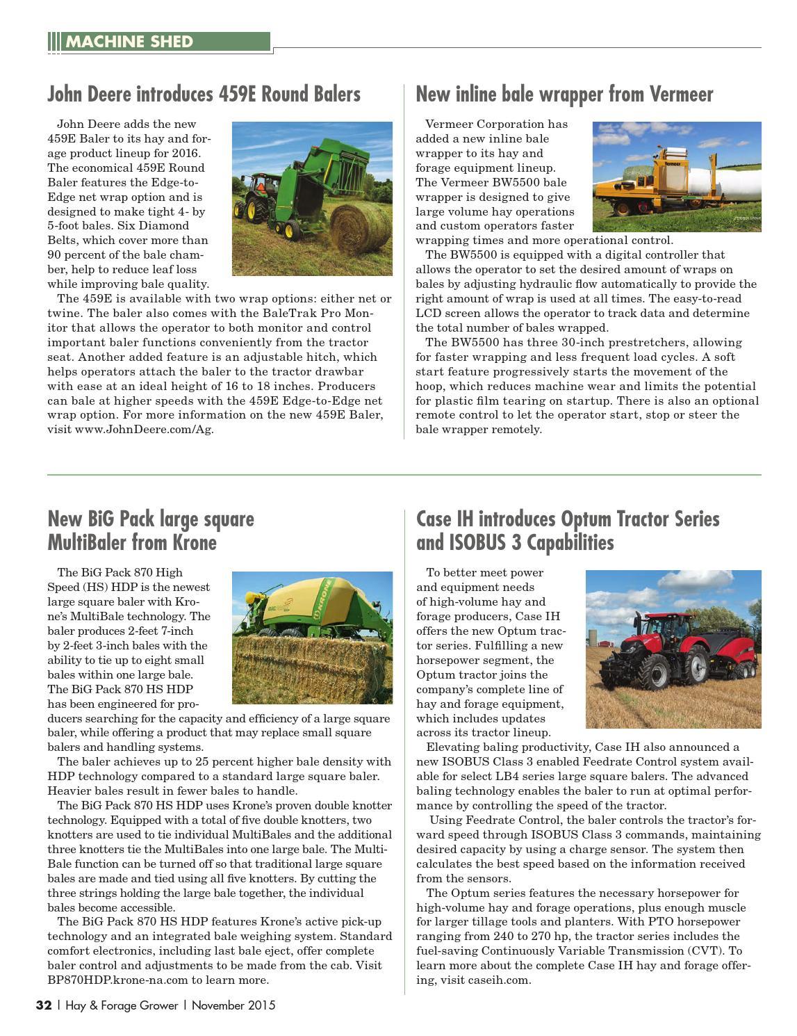 Hay & Forage Grower - November 2015