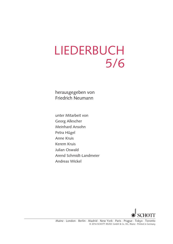 Liederbuch 56 By Schott Music Issuu