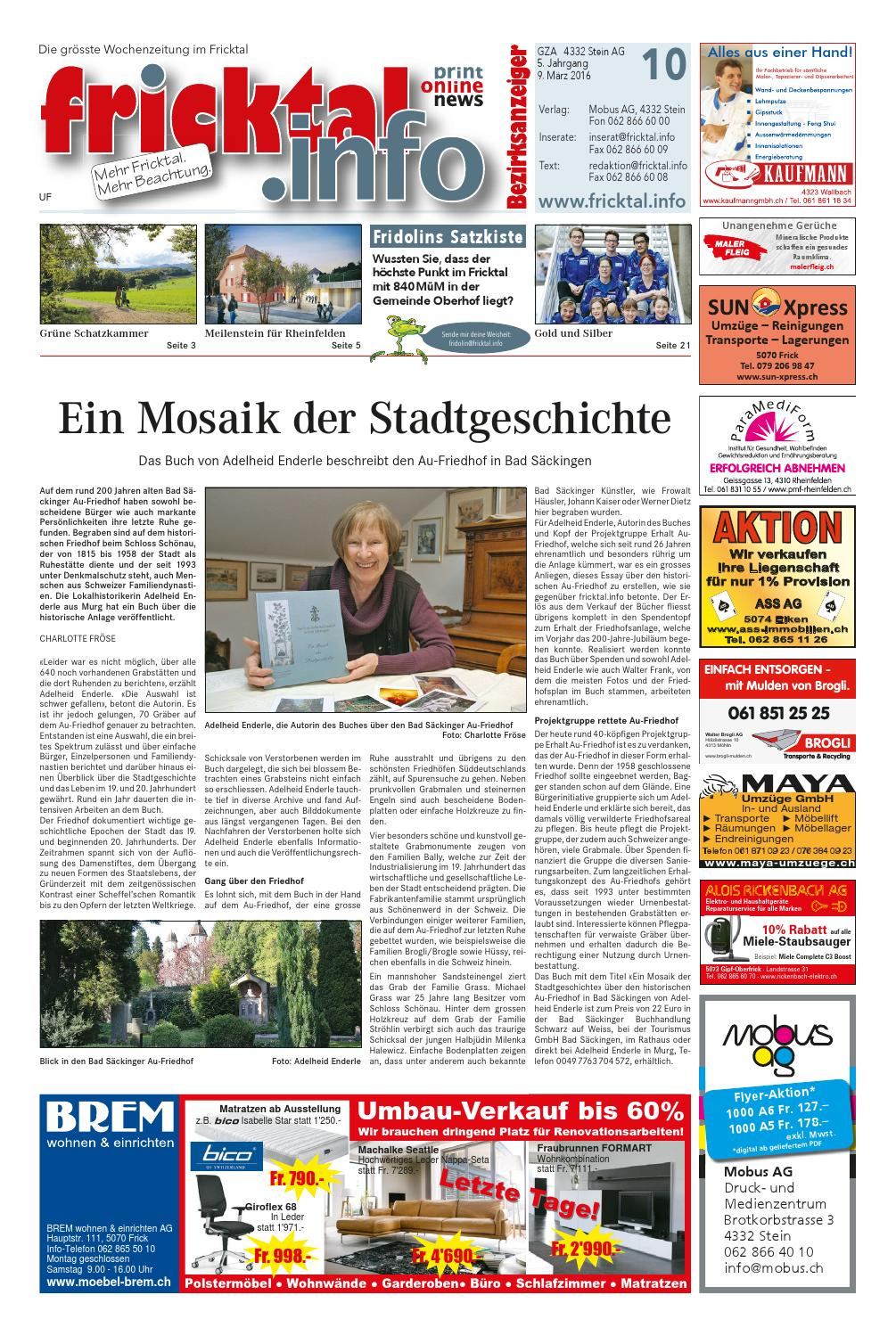 Fricktal Info 2016 10 By Mobus Ag Issuu