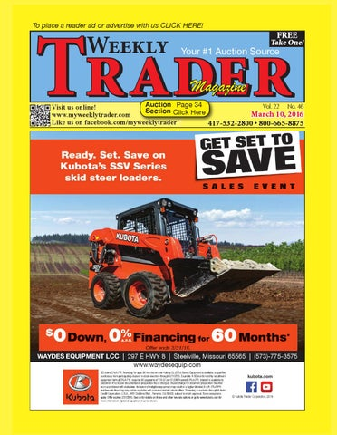 Weekly Trader March 10, 2016 by Weekly Trader - issuu