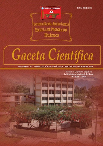 gaceta cient237fica vol 1 by posgrado unheval issuu