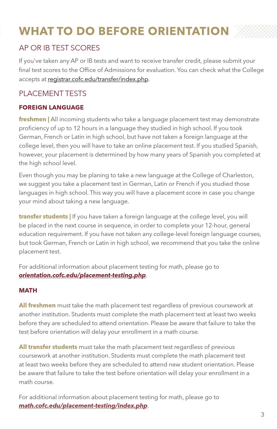 College of Charleston Orientation/Registration Book 2016 by