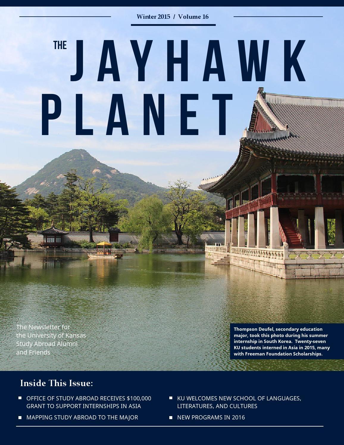 Jayhawk Planet 2015 by KU Study Abroad & Global Engagement - issuu