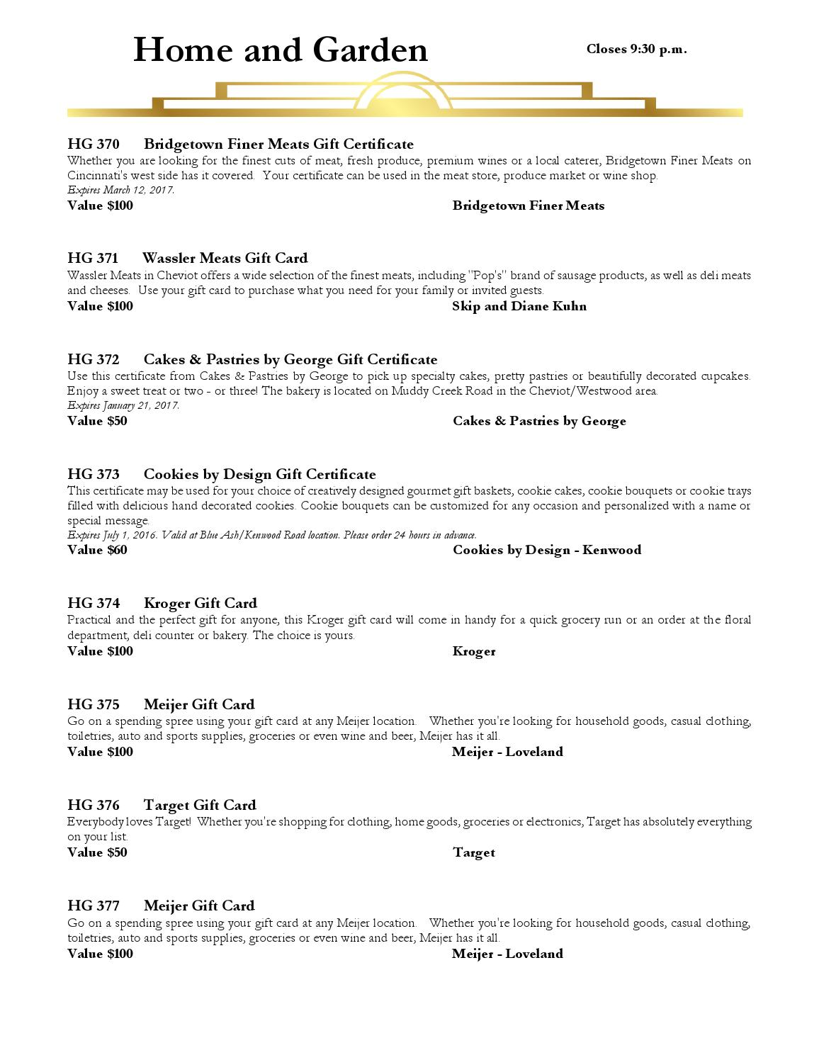 X-Travaganza 2016 Catalog by St  Xavier High School - issuu