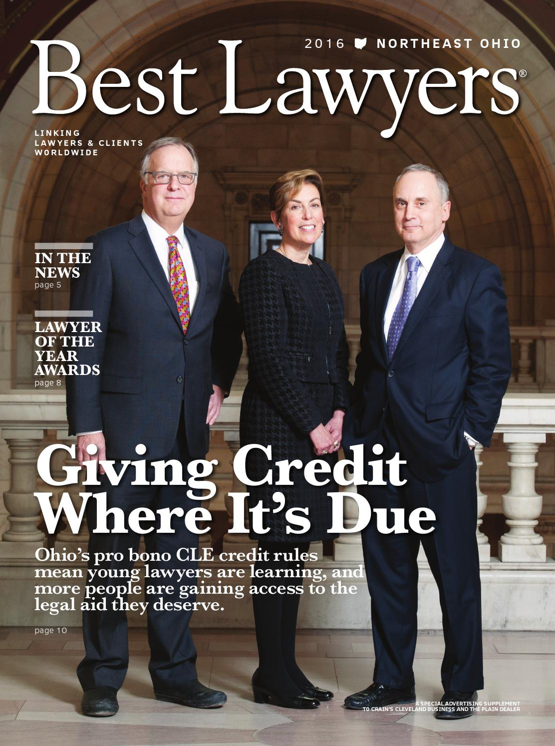 Best Lawyers In Northeast Ohio 2016 By Best Lawyers Issuu