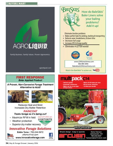 Hay & Forage Grower - January 2016 by Hay & Forage Grower