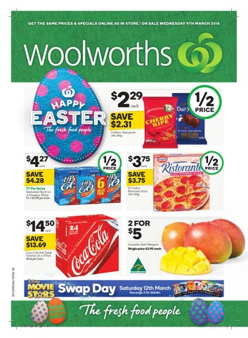Nsw woolworths 090316 150316 by hojunara issuu get the same prices specials online as in store on sale wednesday 9th march 2016 negle Image collections