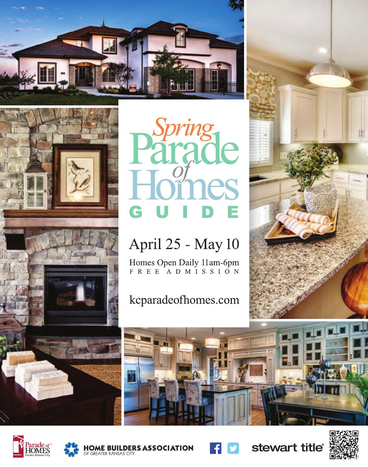 Parade Of Homes Guide Spring 2015 By Home Builders Association Greater Kansas City