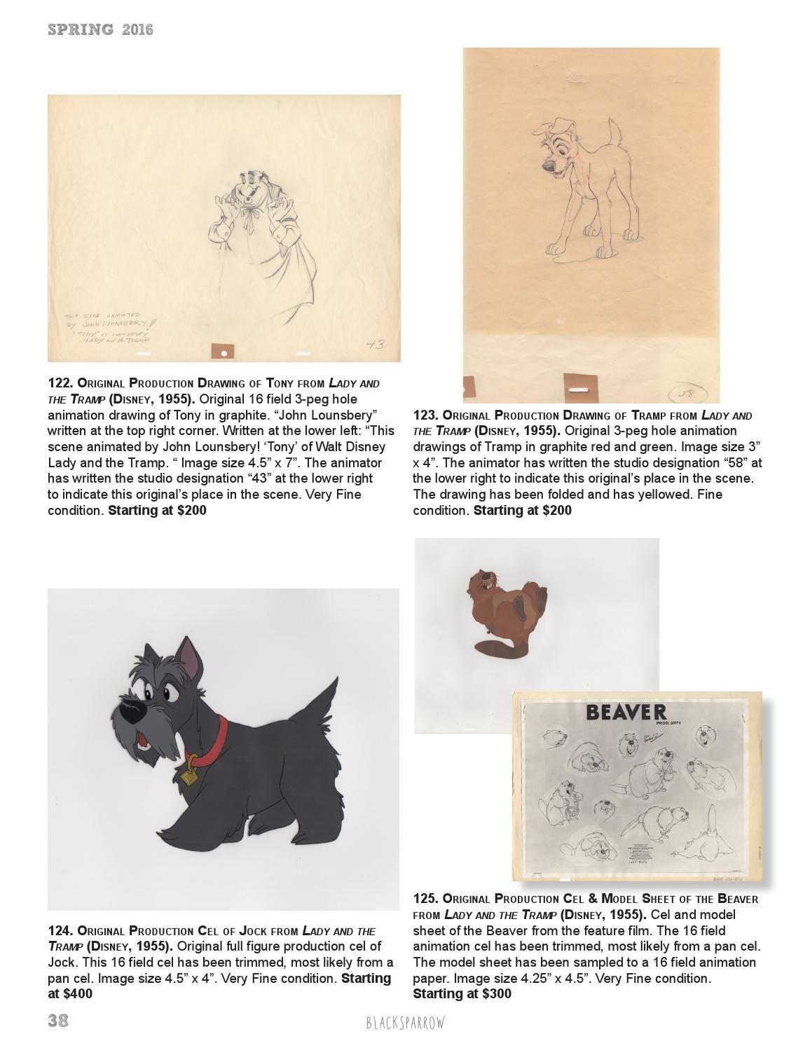 Spring 2016 Animation Auction Catalog by Blacksparrow - issuu