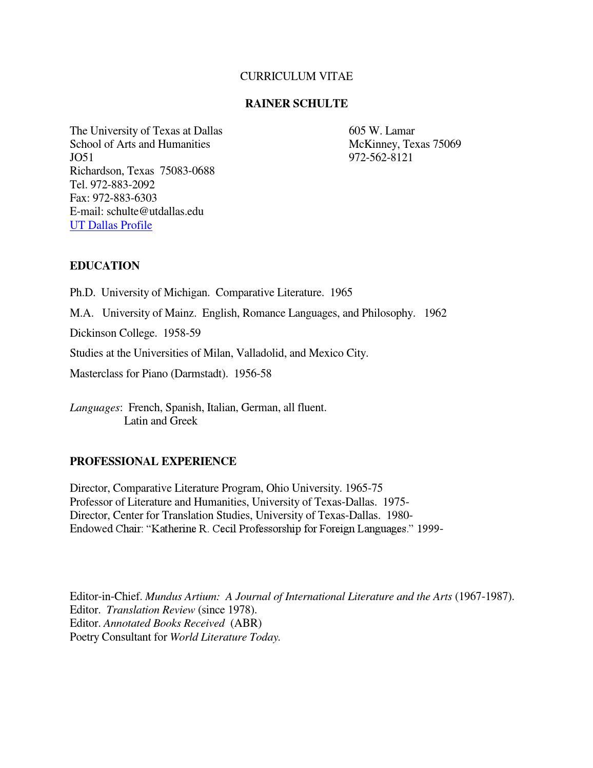 rainer schulte curriculum vitae by rschulte1937 issuu
