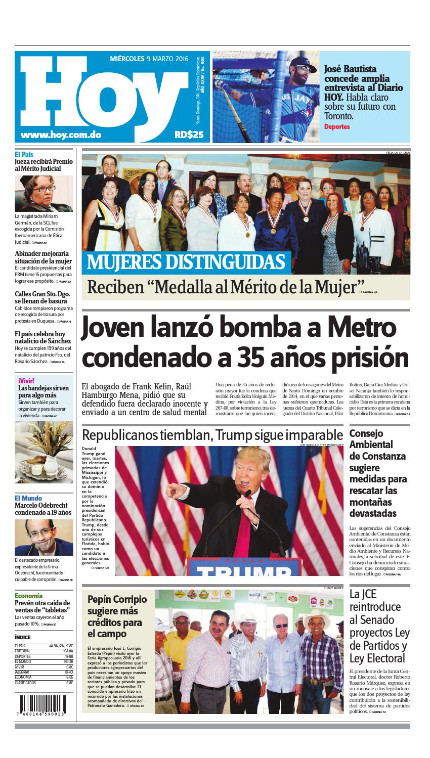 outlet store e3d5a f8a61 Periódico 09 de marzo, 2016 by Periodico Hoy - issuu