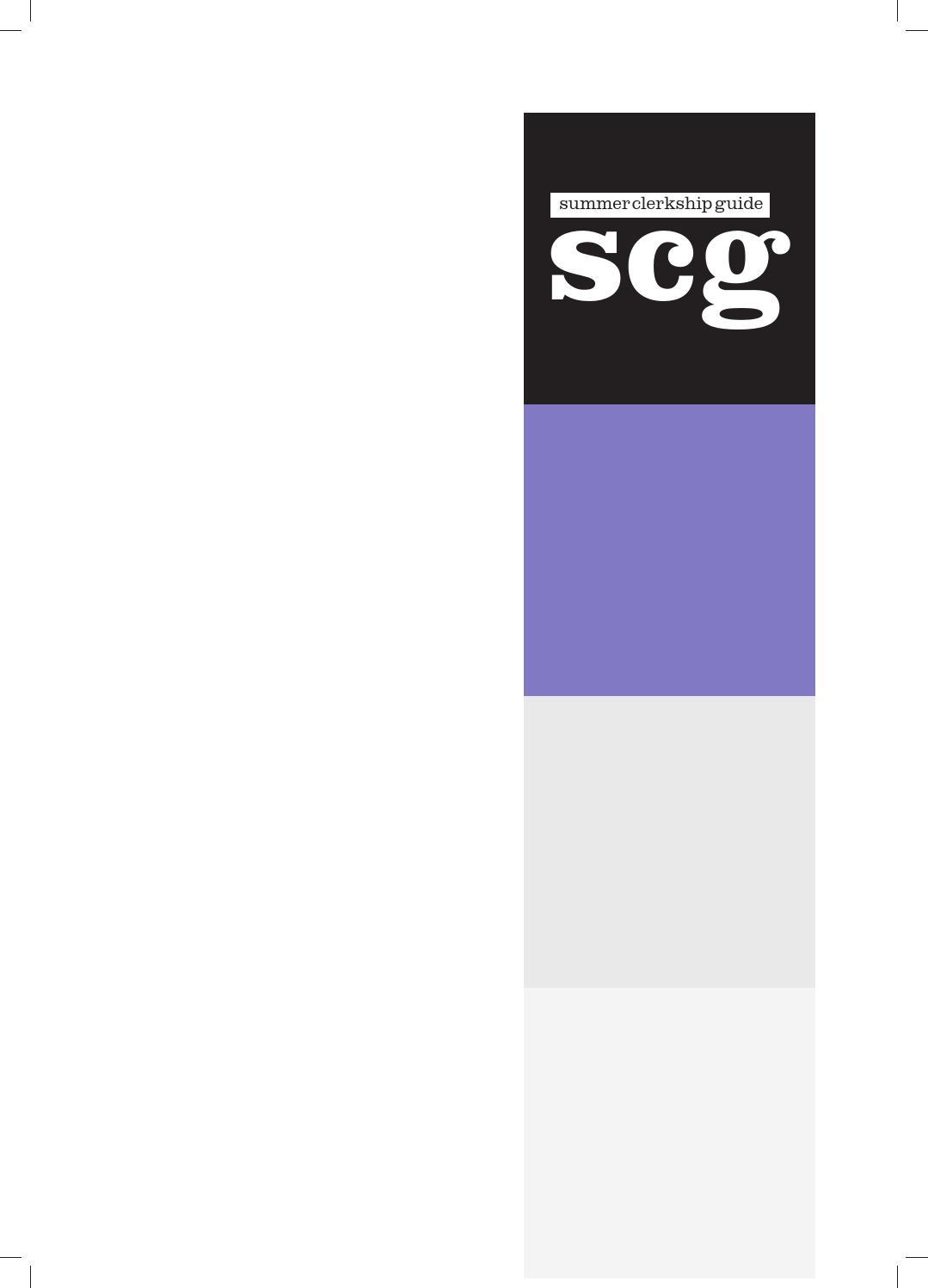Clerkship Guide 2016 by Macquarie University