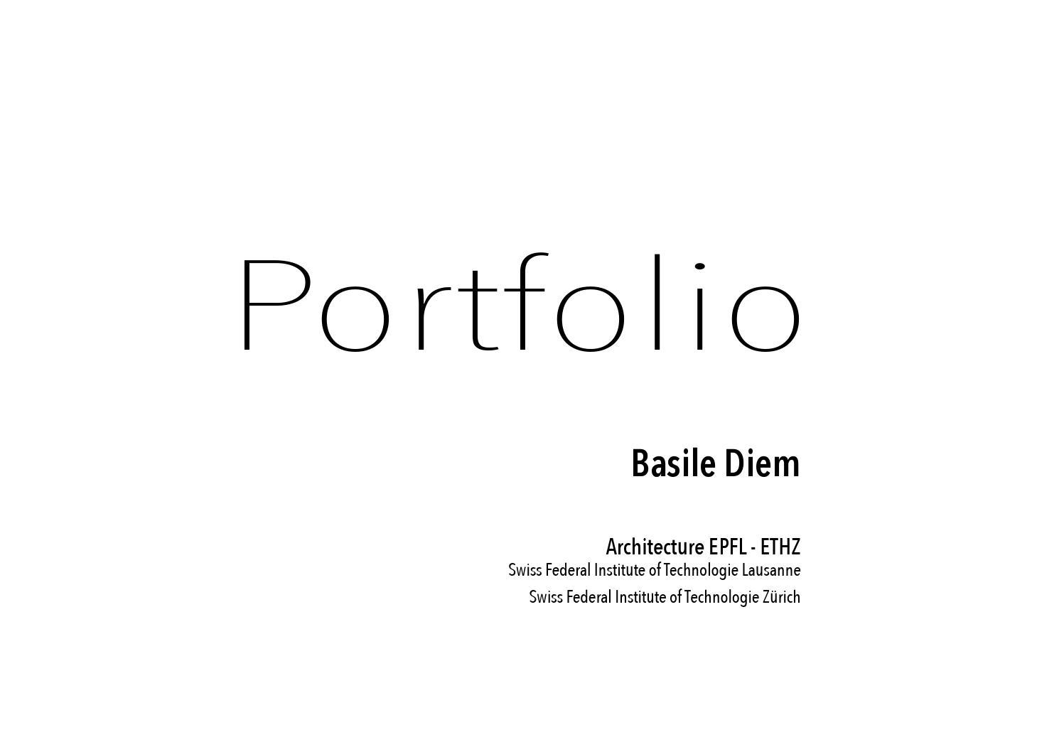 Portfolio Basile Diem By Basile Diem Issuu