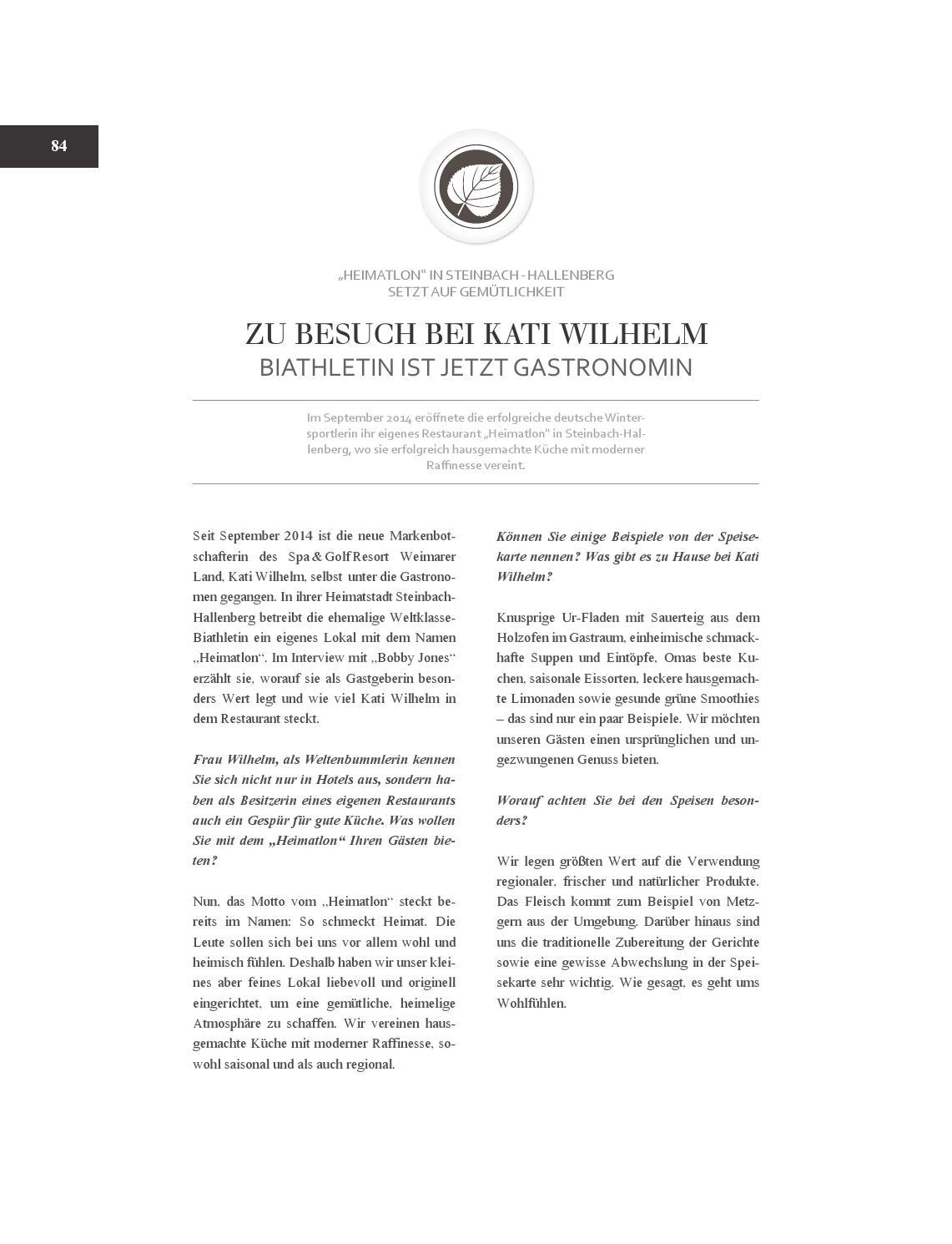 Bobby Jones Lifestylemagazin 2016 By Spa Golfresort Weimarer Land