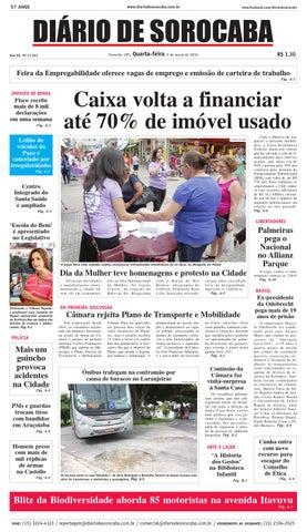 Edição de 09 de março de 2016 by DIÁRIO DE SOROCABA - issuu ccc09c4fb5359
