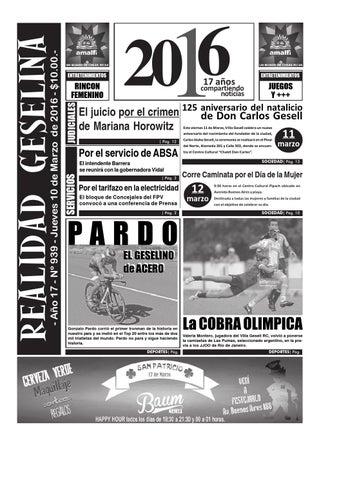 Semanario Realidad Geselina 939 by Semanario Realidad Geselina - issuu 78e60f060a0