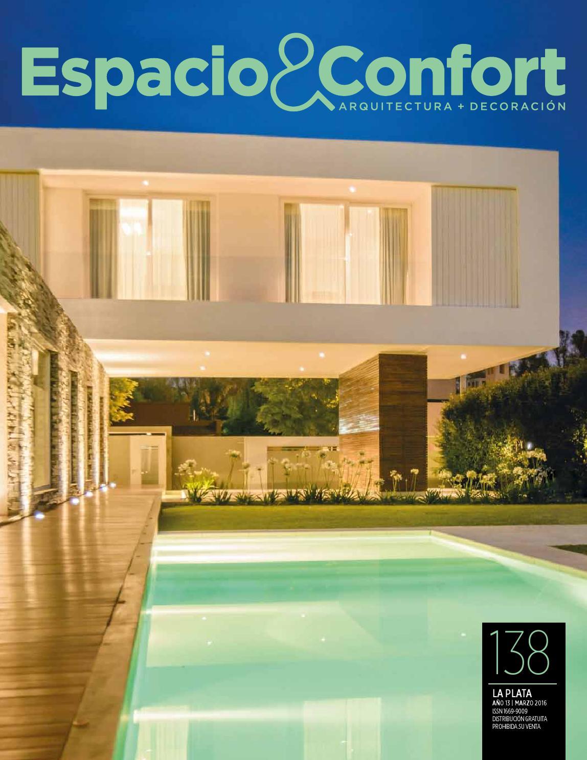 138 La Plata Marzo 16 By Revista Espacio Confort Arquitectura  # Petit Muebles Haedo