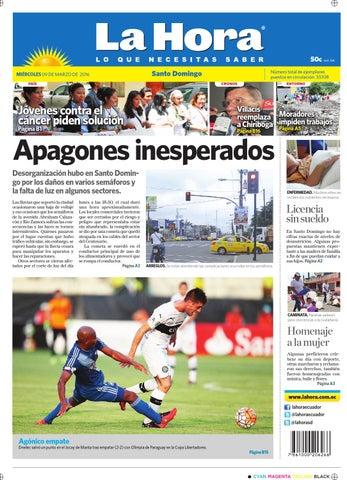 Santo domingo 9 de marzo 2016 by Diario La Hora Ecuador - issuu d351bd8e78c48