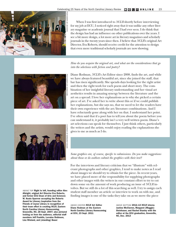 North Carolina Literary Review by East Carolina University ...