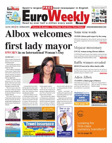 12a0fe7f0bf9 Euro Weekly News - Costa de Almeria 10 - 16 March 2016 Issue 1601 by ...