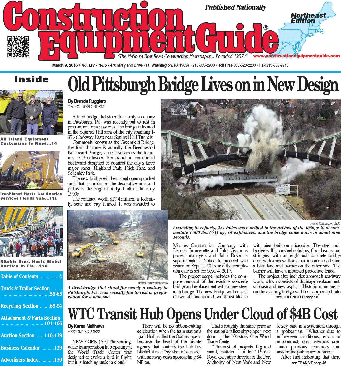 Northeast 05 2016 by Construction Equipment Guide - issuu