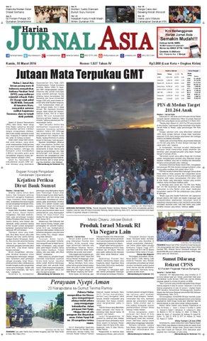 Harian Jurnal Asia Edisi Kamis, 10 Maret 2016