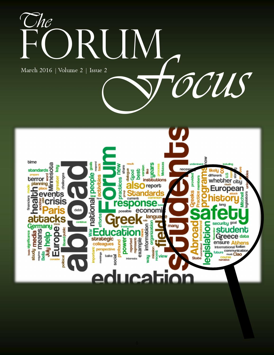 Forum Focus - March 2016 by The Forum on Education Abroad - issuu
