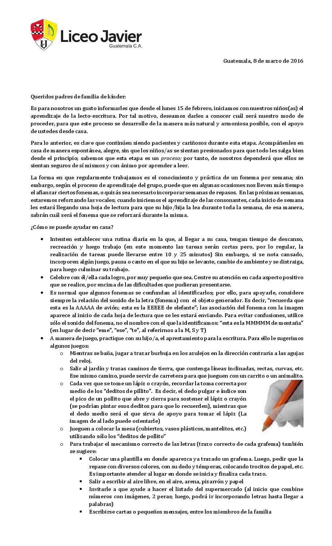 051 kinder inicio lecto escritura by Liceo Javier - issuu