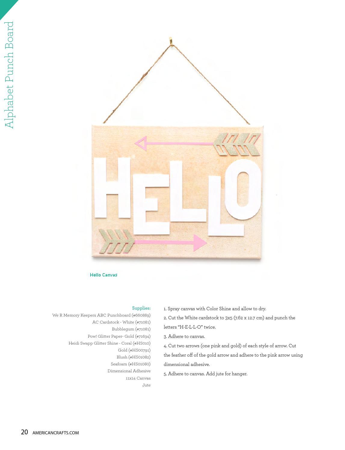 H American Crafts Letter Kit