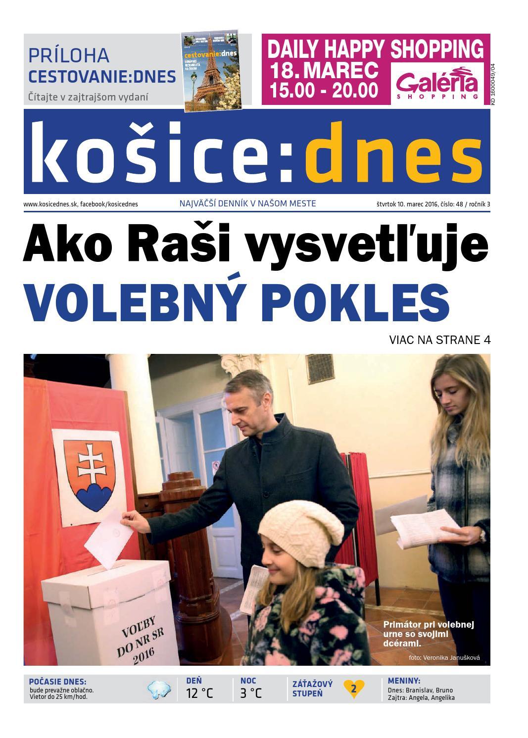 f0de9e7b6 košice:dnes 10.3. 2016 by KOŠICE:DNES - issuu