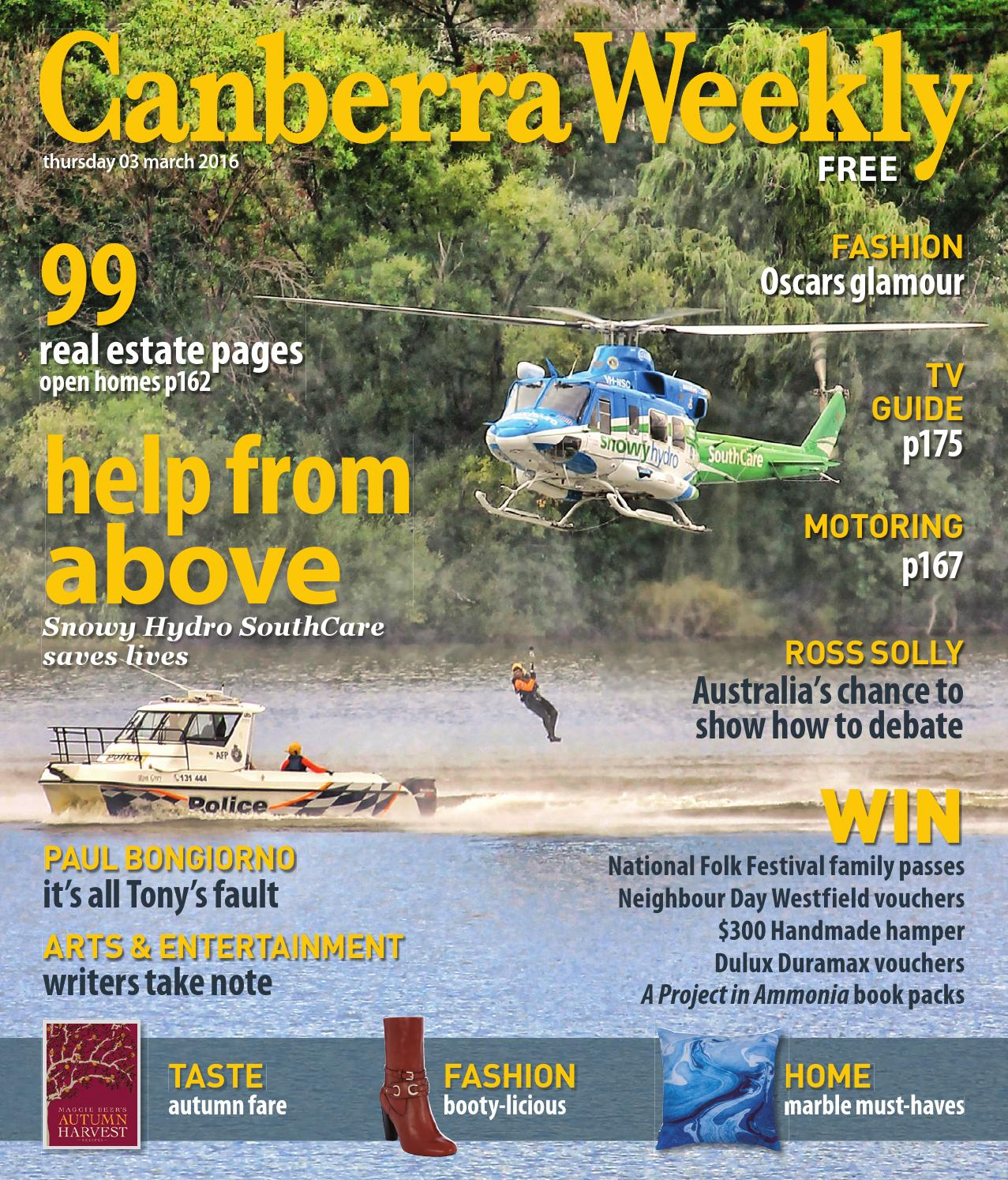 03 March 2016 by Canberra Weekly Magazine - issuu