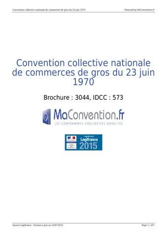 Convention Collective Nationale De Commerces De Gros Du 23