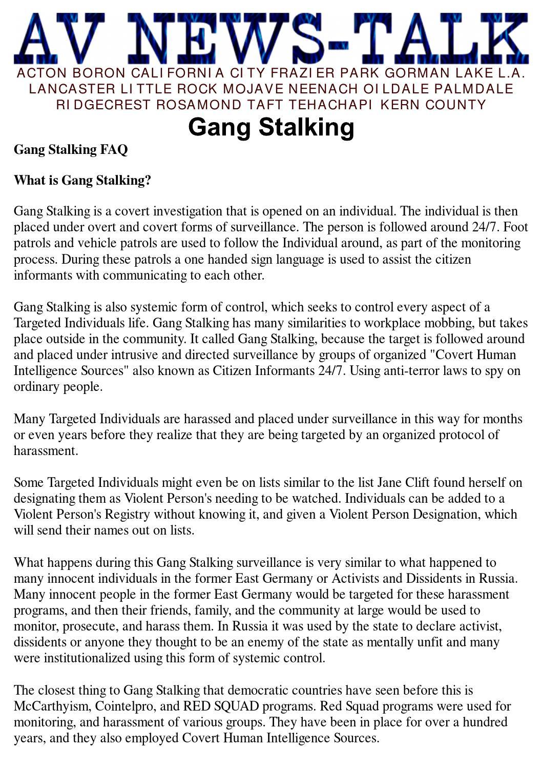 A4 gangstalkingavnewstalk by ARIO - issuu