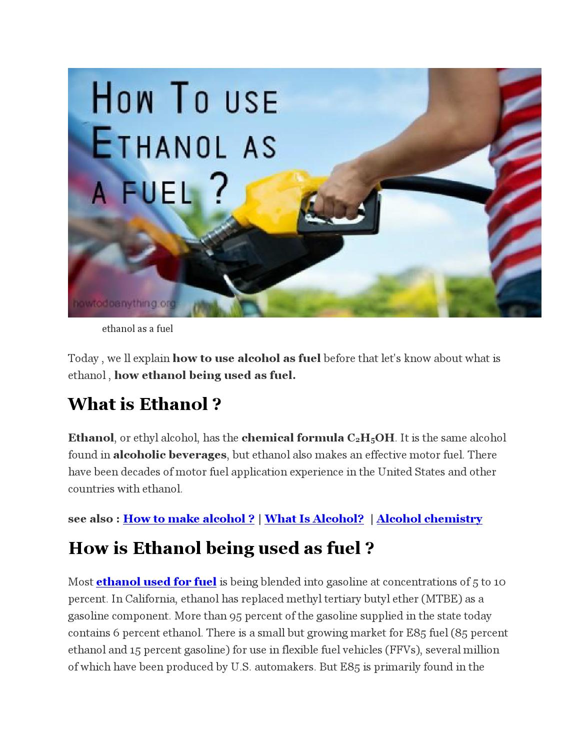 What Is Ethanol >> Advantages And Disadvantages Of Ethanol As A Fuel By Dhruval