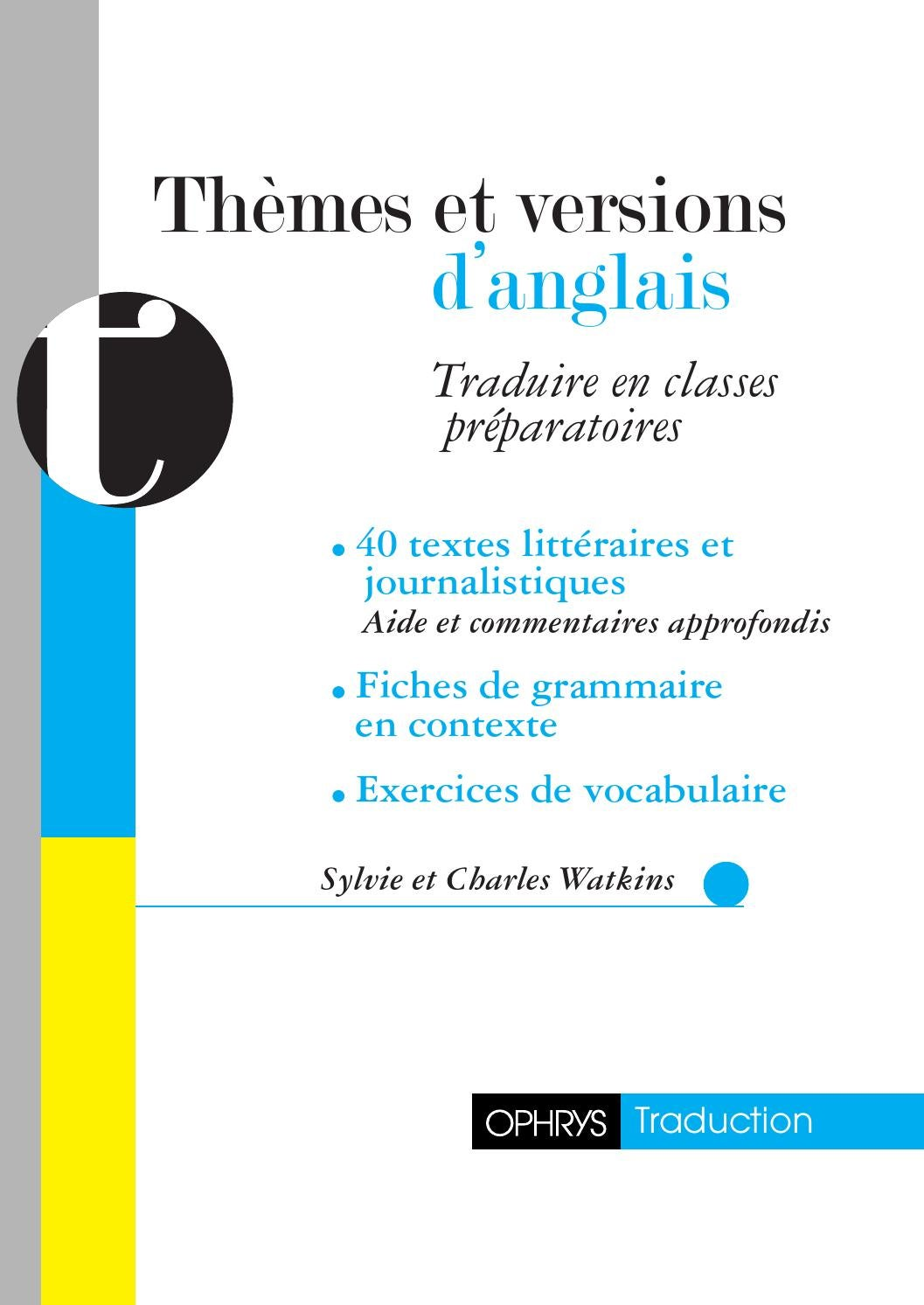 9782708012820 - themes et versions anglais by to groupe