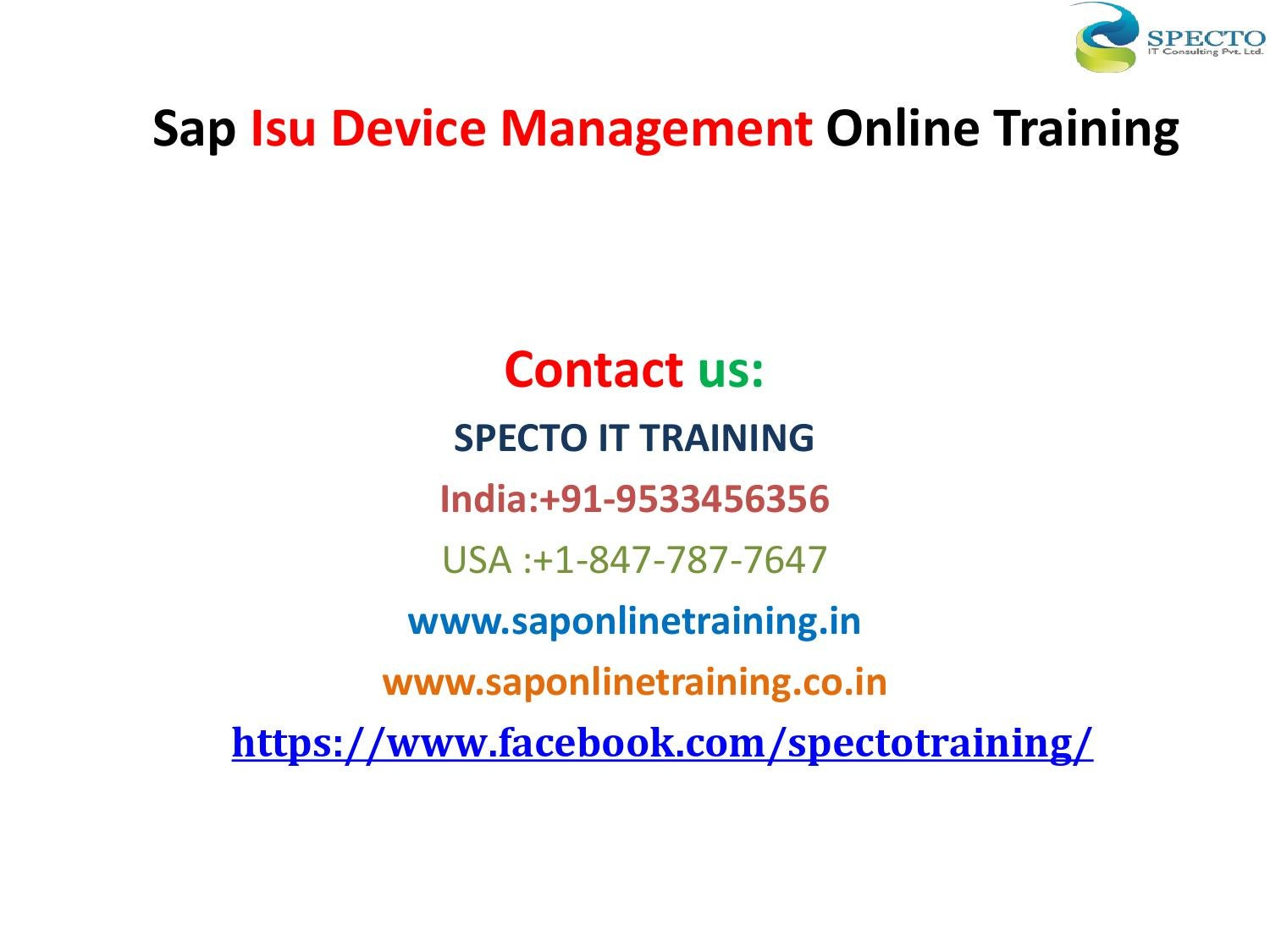 Sap isu device management online training in usa,uk by