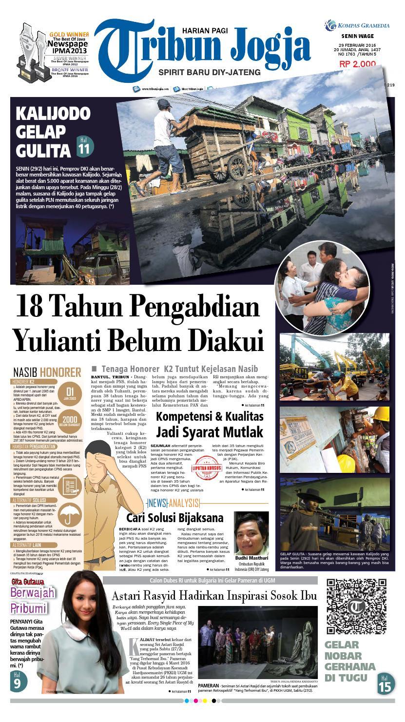 Tribunjogja 29 02 2016 By Tribun Jogja Issuu Produk Ukm Bumn Dompet Double Bordir Rikaamp039s