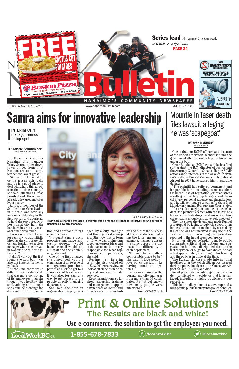 another chance classic fit discount shop Nanaimo News Bulletin, March 10, 2016 by Black Press Media Group ...