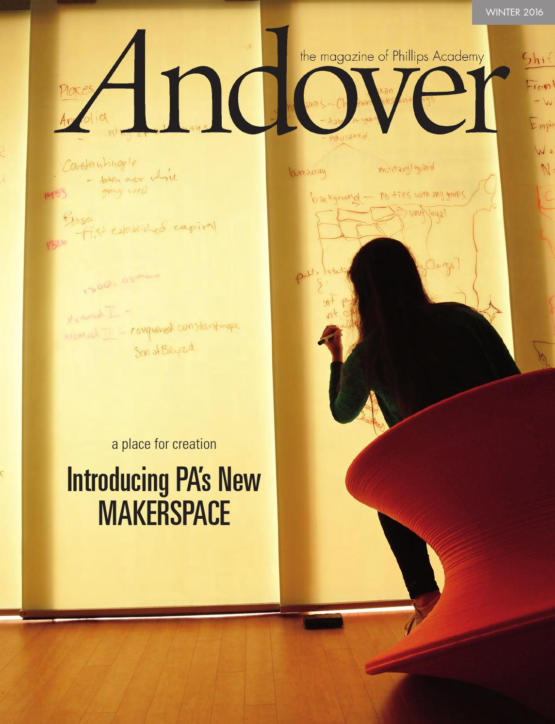 dedf88ac8 Andover, the magazine Winter 2016 by Phillips Academy - issuu