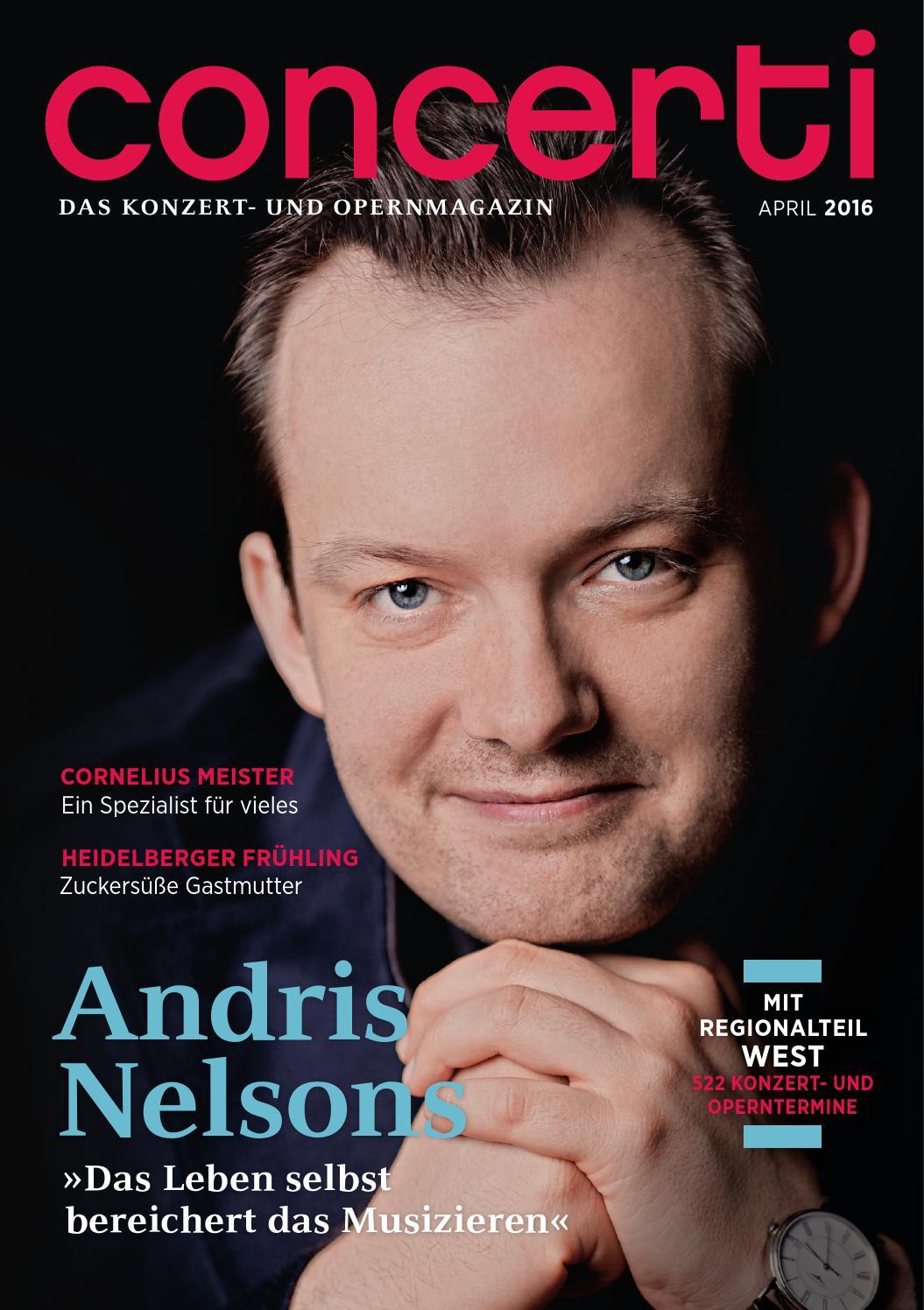 concerti Ausgabe West April 2016 by concerti - Das Konzert- und ...