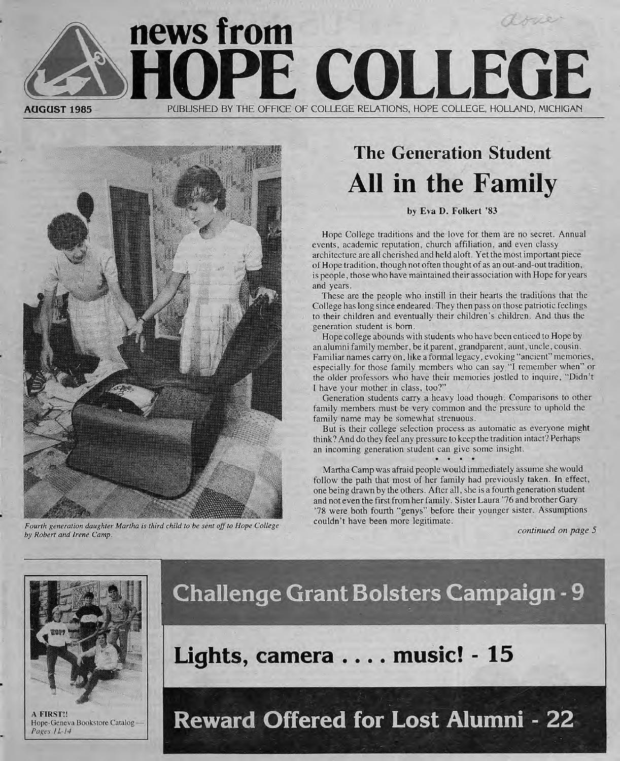 Reduced nfhc 1985 08 by Hope College Library - issuu 21d7a25b76b06